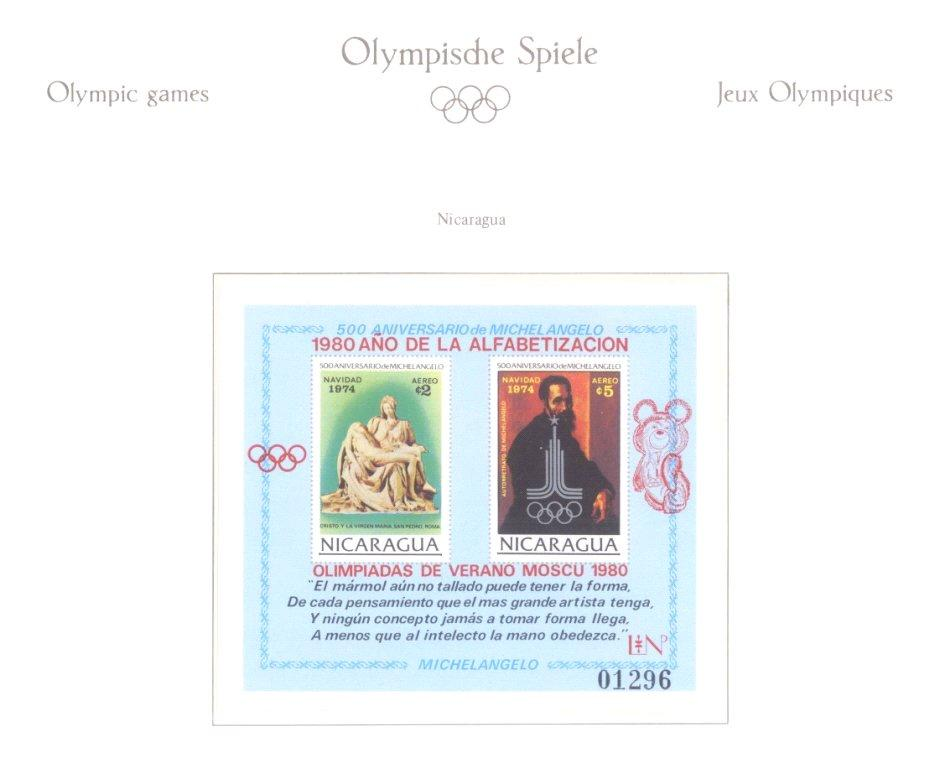 MOTIV OLYMPIADE 1980, mit interessanter BLOCK ABART!-2