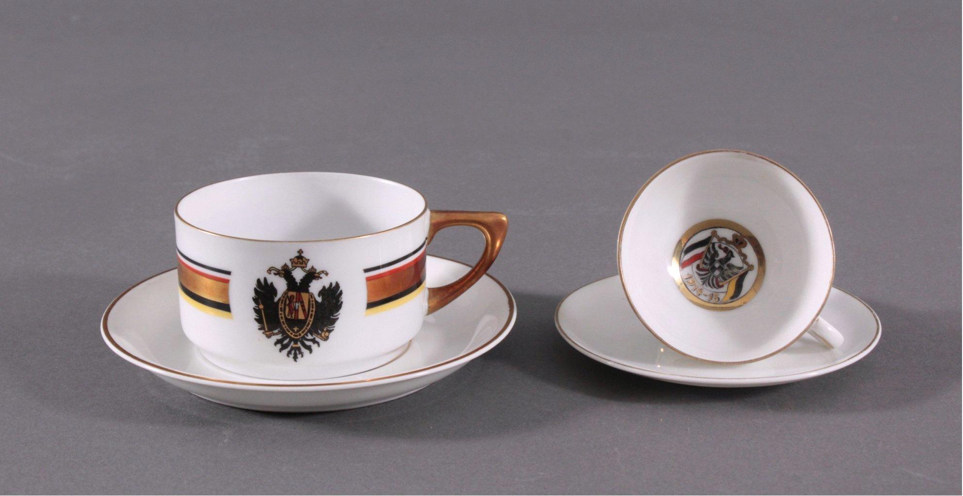 Heraldische Wappentassen um 1910/20