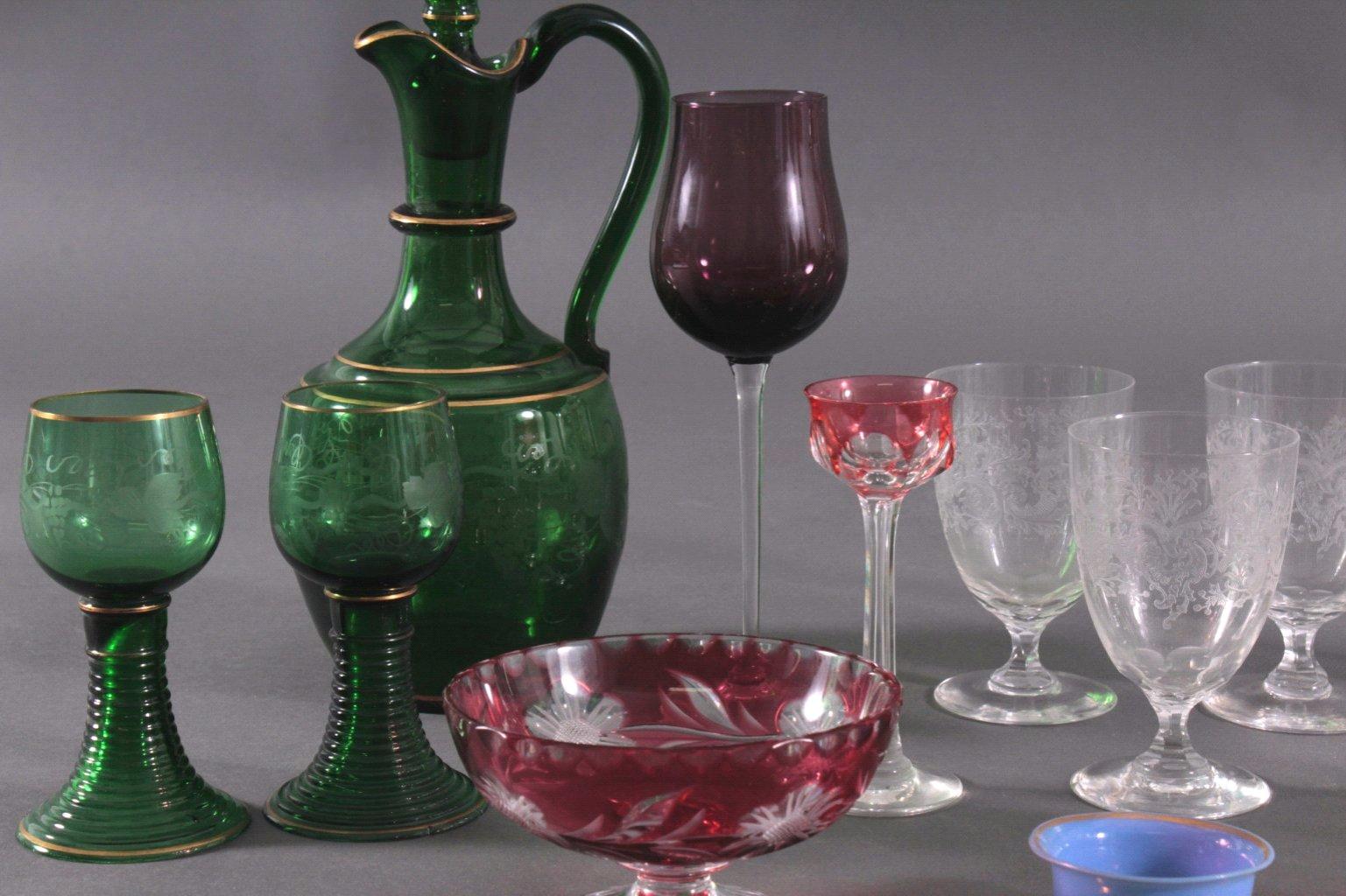 Konvolut Gläser zum Teil aus dem 19. Jahrhundert-1