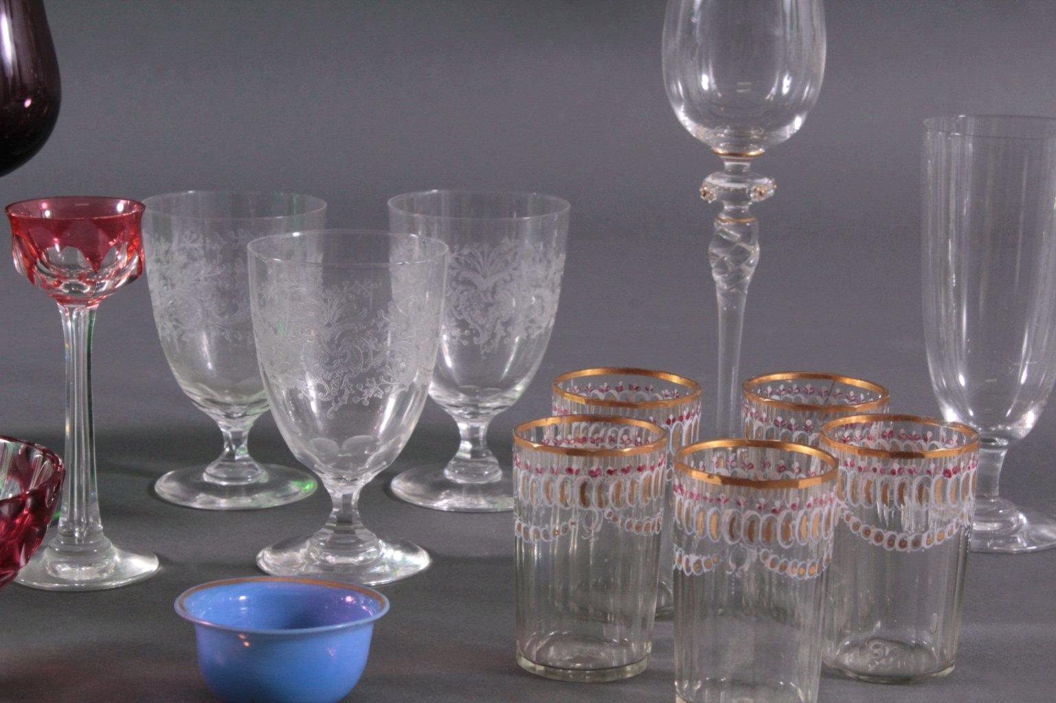 Konvolut Gläser zum Teil aus dem 19. Jahrhundert-2