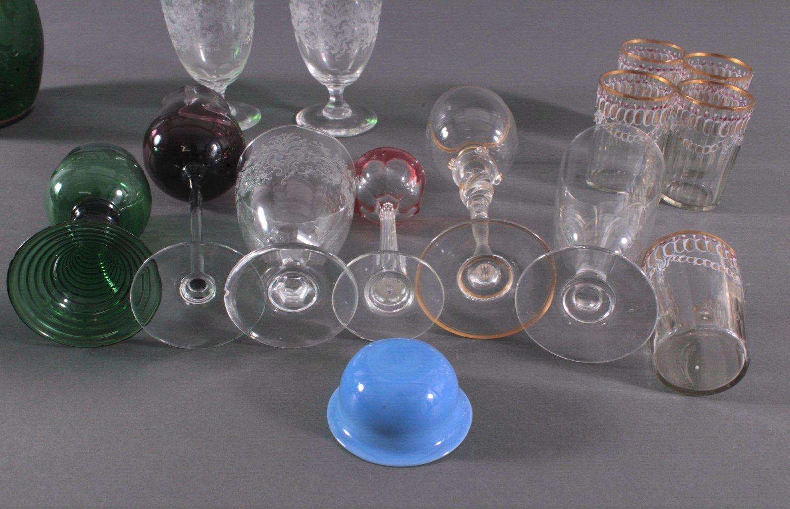 Konvolut Gläser zum Teil aus dem 19. Jahrhundert-5