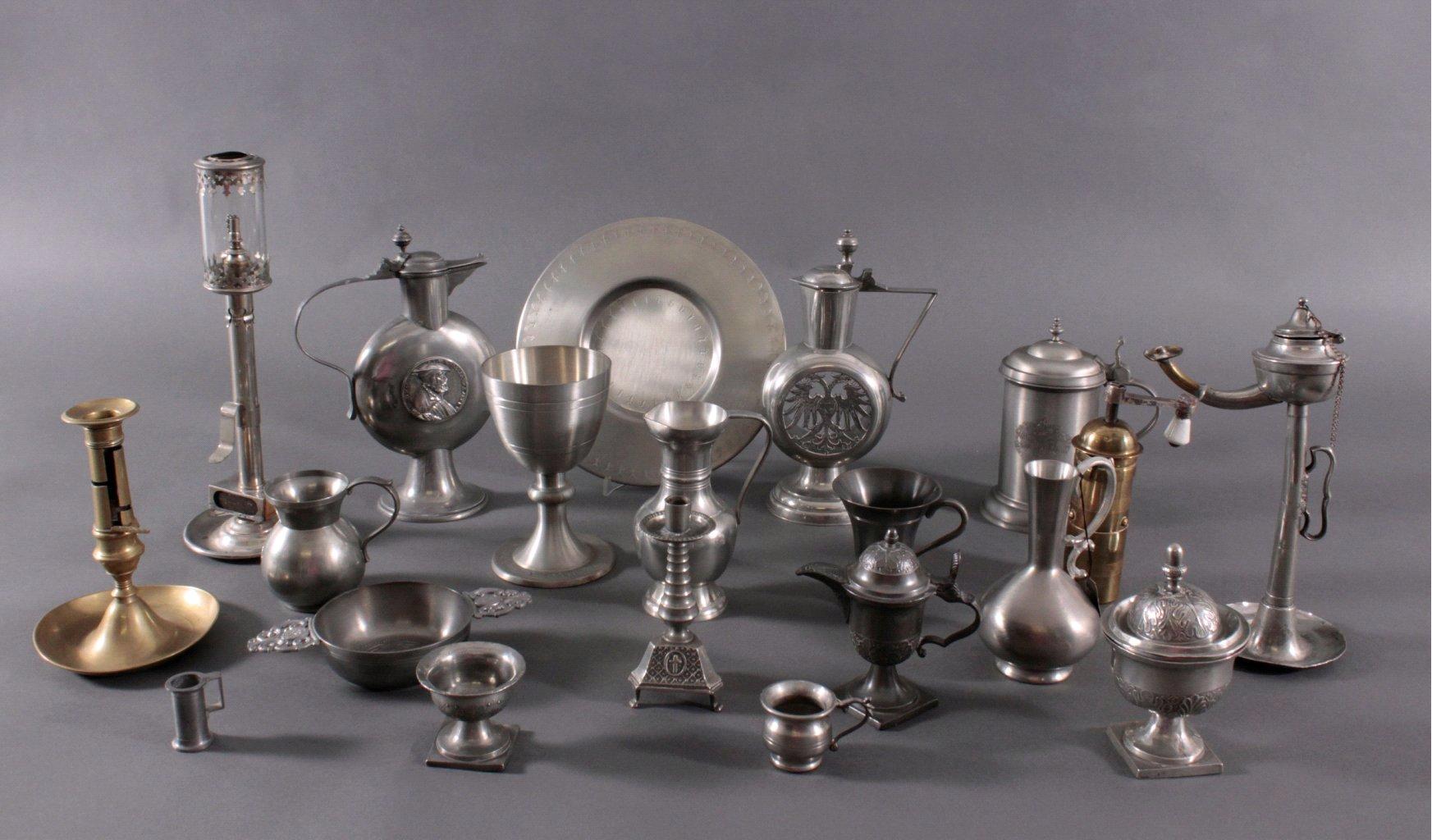Konvolut dekoratives Zinn/Messing