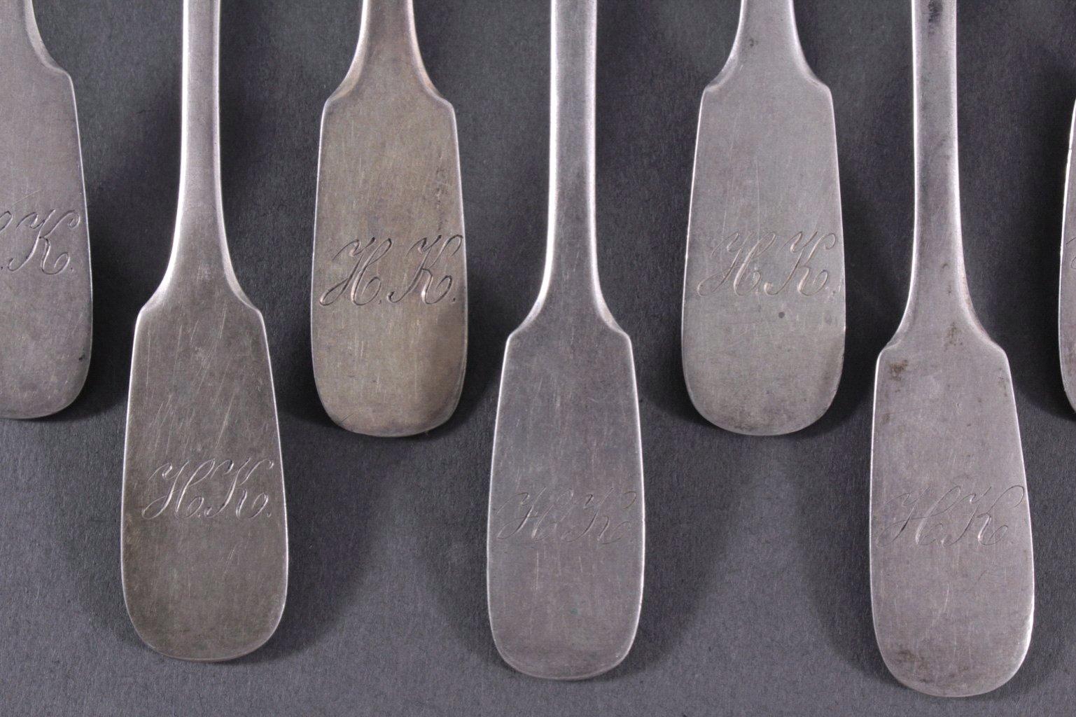 11 Kaffeelöffel, 800er Silber-1