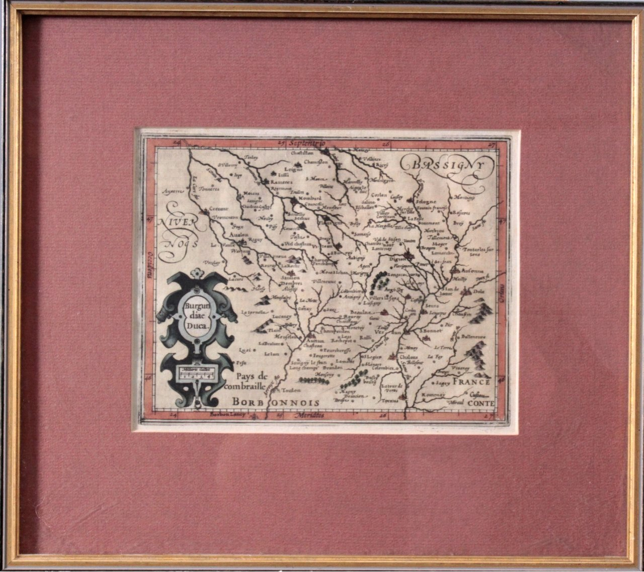 Altkolorierte Kupferstichkarten. Jan Janssonius (1588-1664)-1