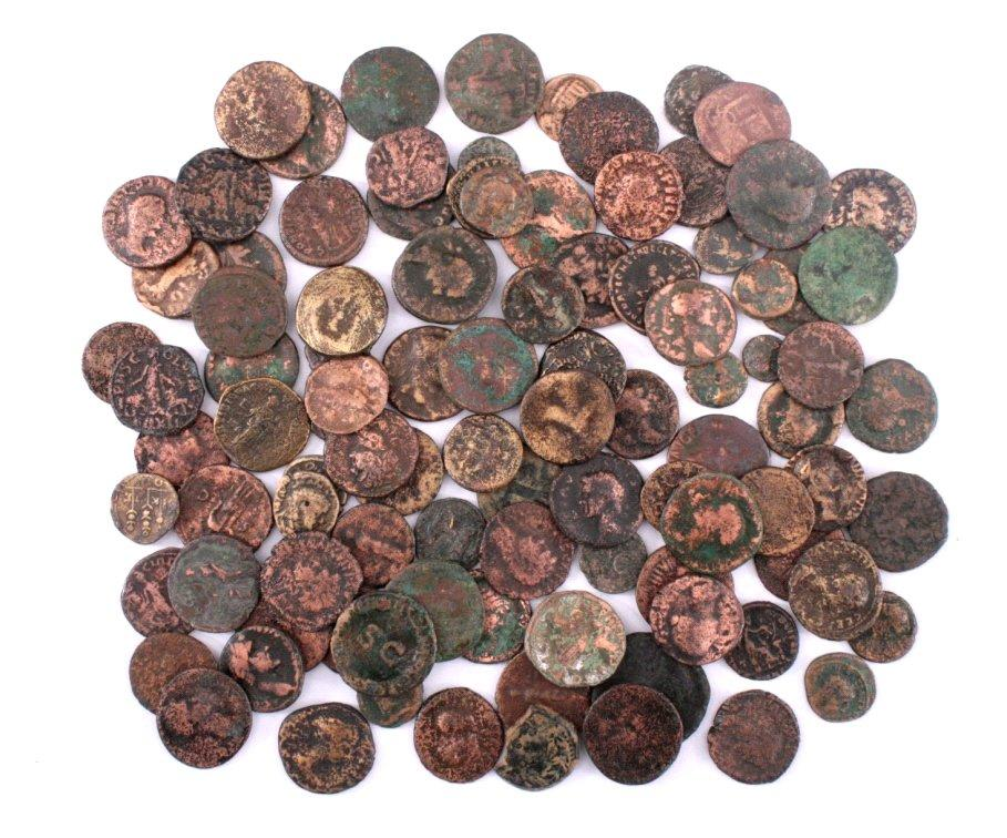 100 Römische Bronze Münzen