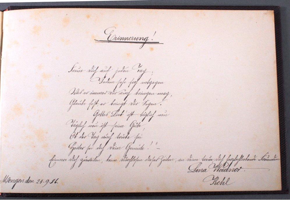 Poesie-Album aus der Zeit um 1882 bis 1905-1