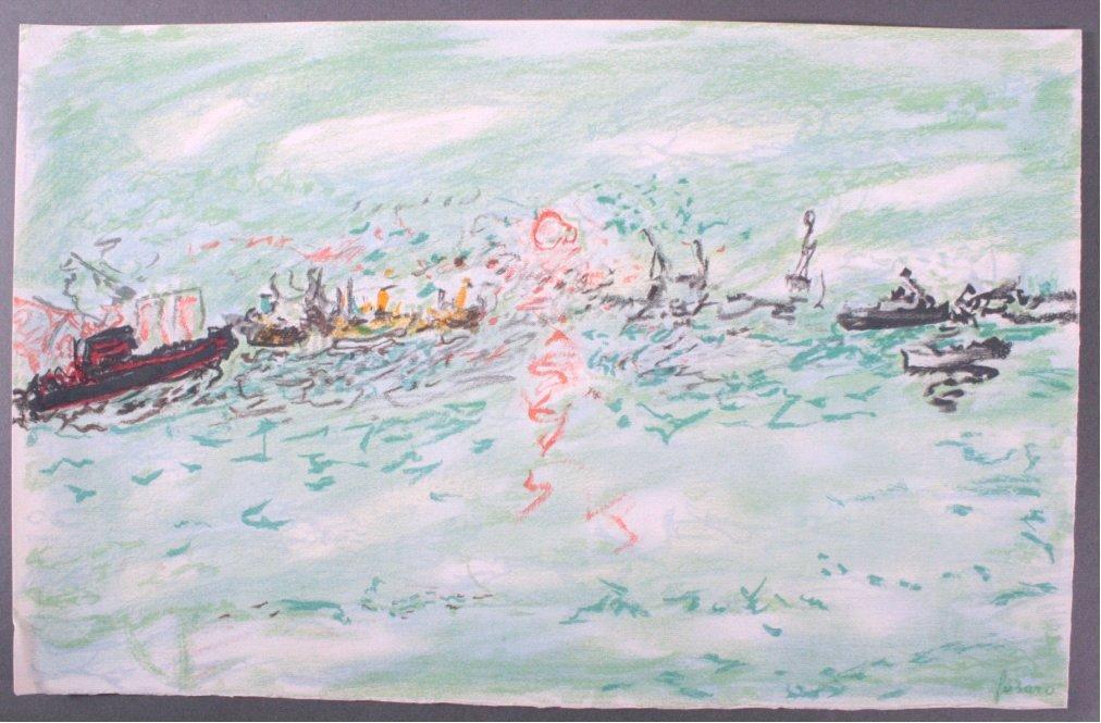 """Jean Fusaro (1925-Marseille), """"Hafen"""""""