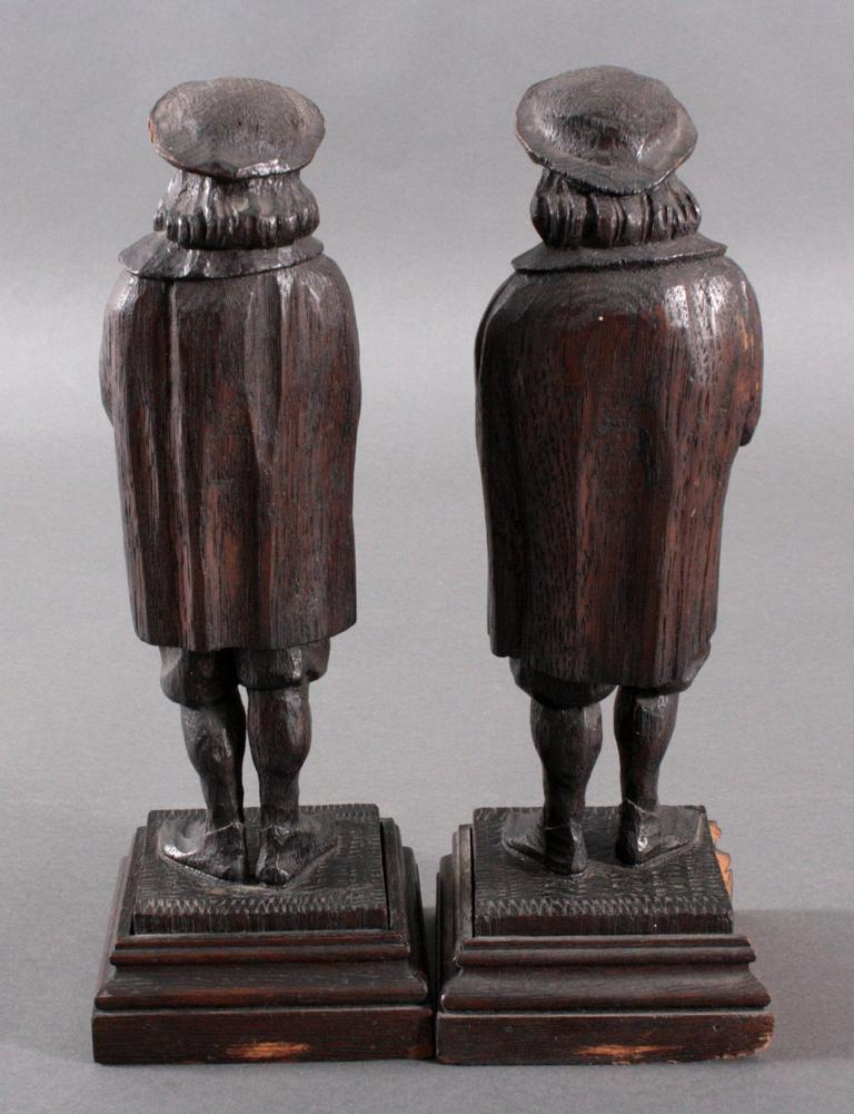 Paar Holzskulpturen, 19. Jh.-2