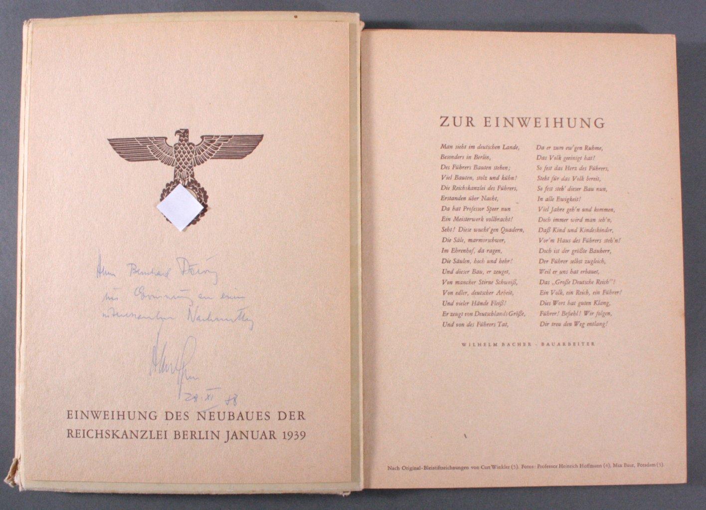 Einweihung des Neubaues der Reichskanzlei Berlin 1939-1