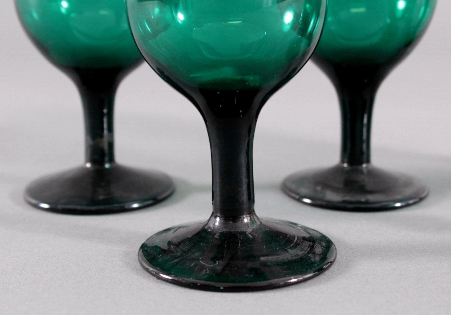 Sechs Gläser, Waldglas 19. Jh.-4