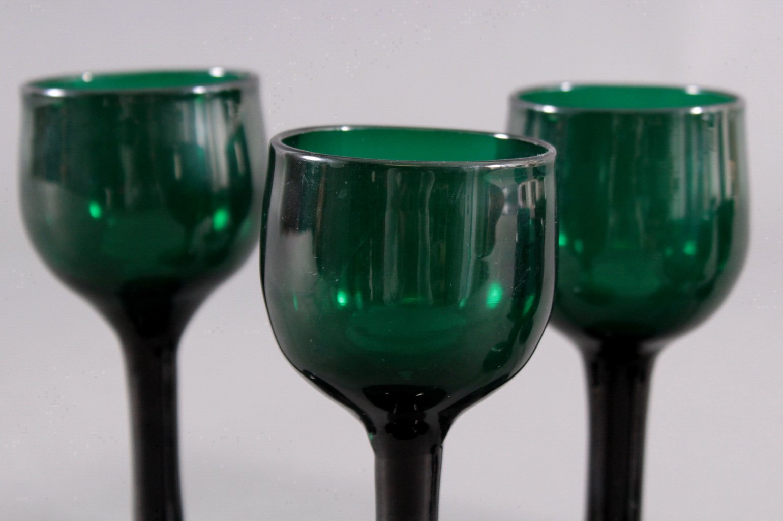 Sechs Gläser, Waldglas 19. Jh.-1