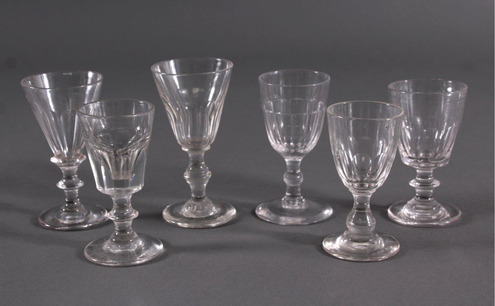 Sechs Gläser, 19. Jh.