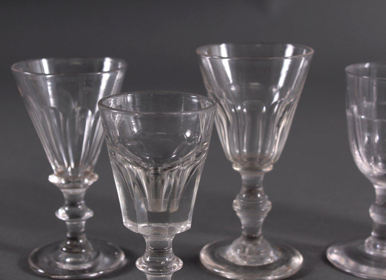 Sechs Gläser, 19. Jh.-1