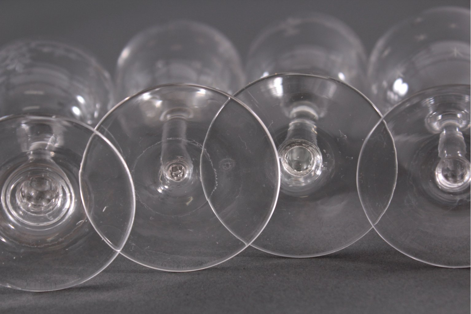 Acht diverse Gläser, 19./20. Jh.-4