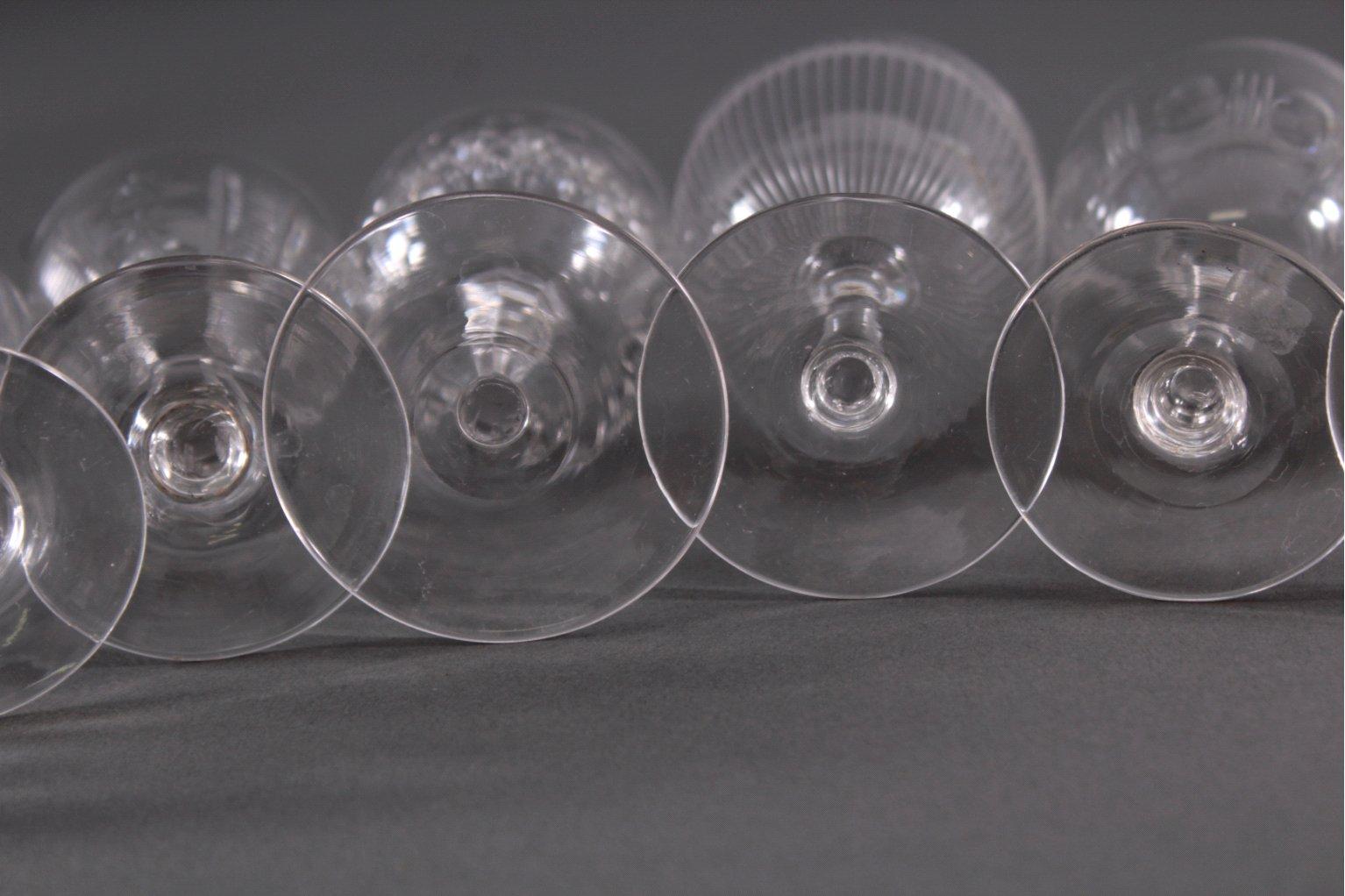Acht diverse Gläser, 19./20. Jh.-5