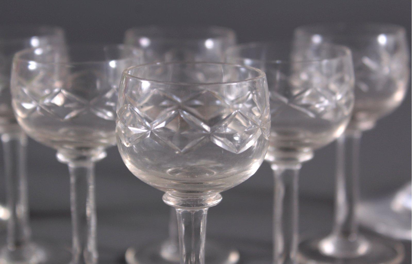 Art Deco Gläser, Wein und Likör-2