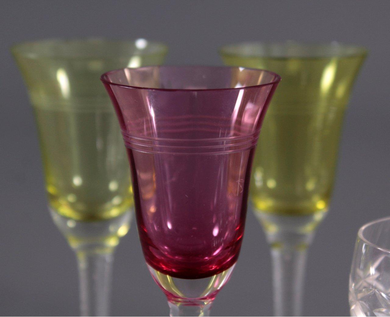 Art Deco Gläser, Wein und Likör-3