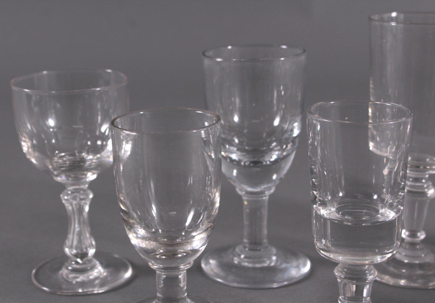 Zehn diverse Gläser, 19./20. Jh.-1
