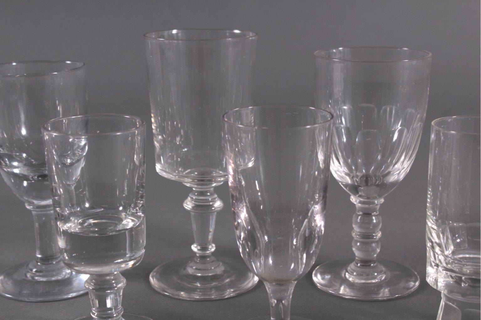 Zehn diverse Gläser, 19./20. Jh.-2