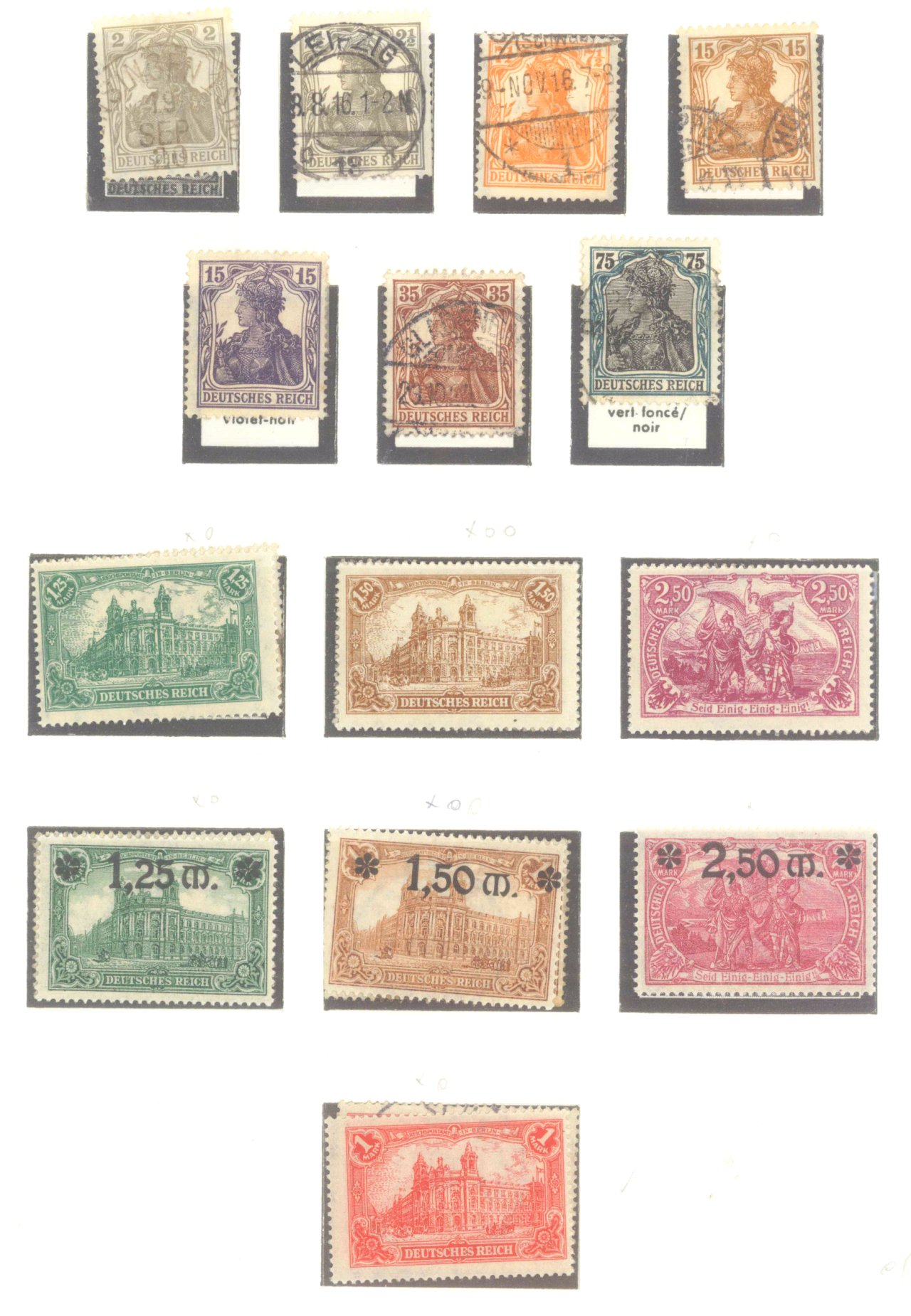 DEUTSCHES REICH – INFLATIONSZEIT 1916-1923