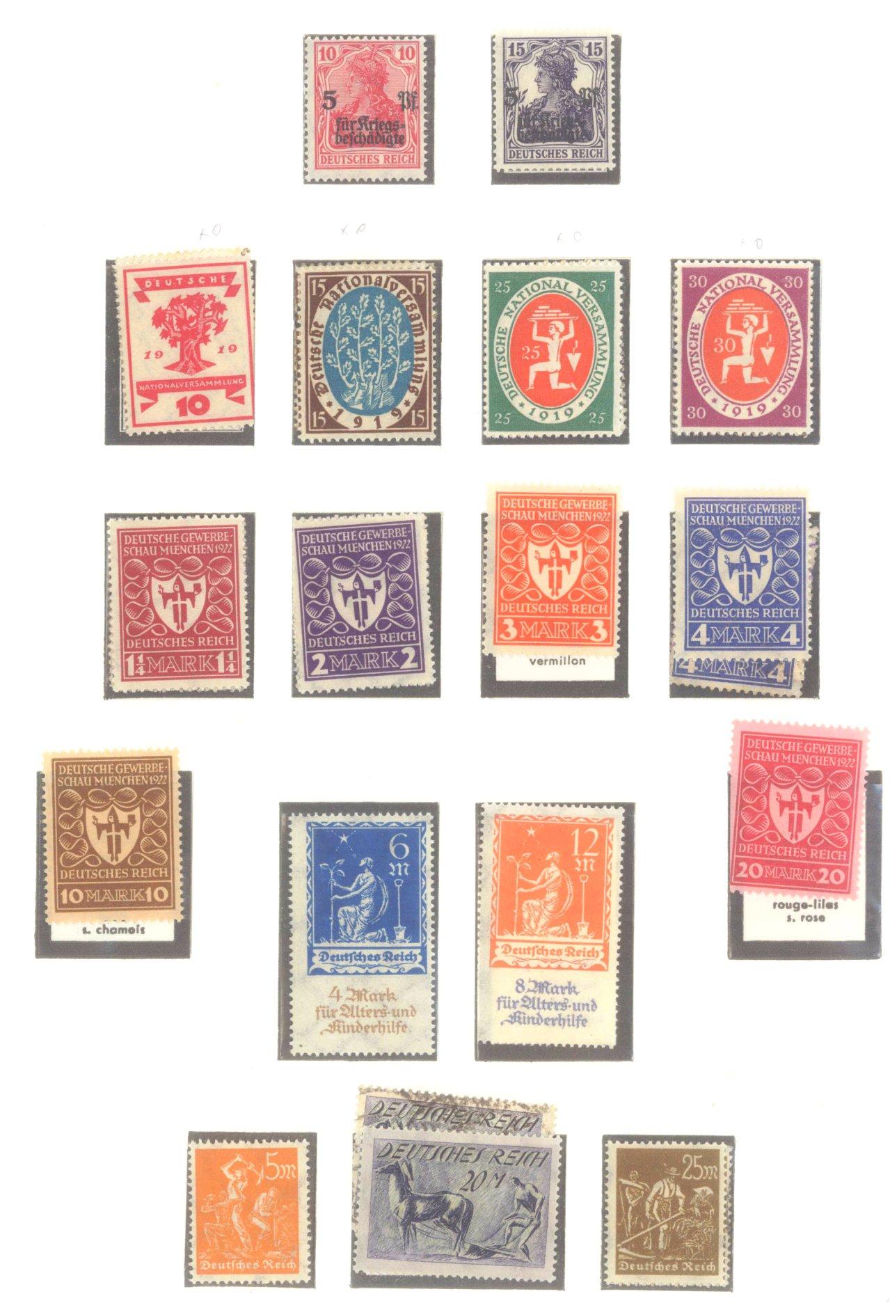DEUTSCHES REICH – INFLATIONSZEIT 1916-1923-1