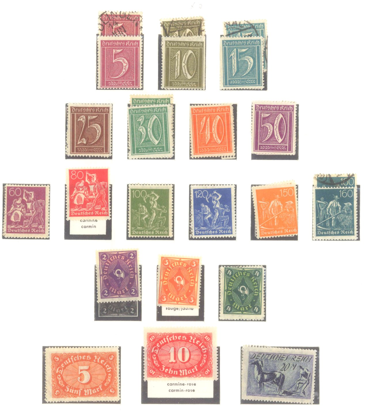 DEUTSCHES REICH – INFLATIONSZEIT 1916-1923-4