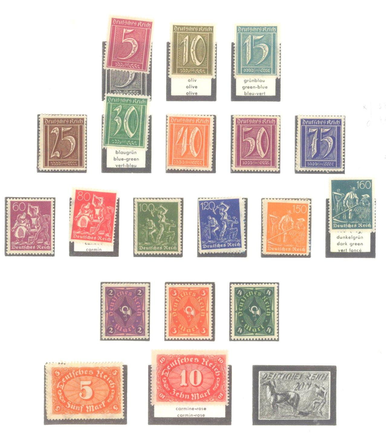 DEUTSCHES REICH – INFLATIONSZEIT 1916-1923-5