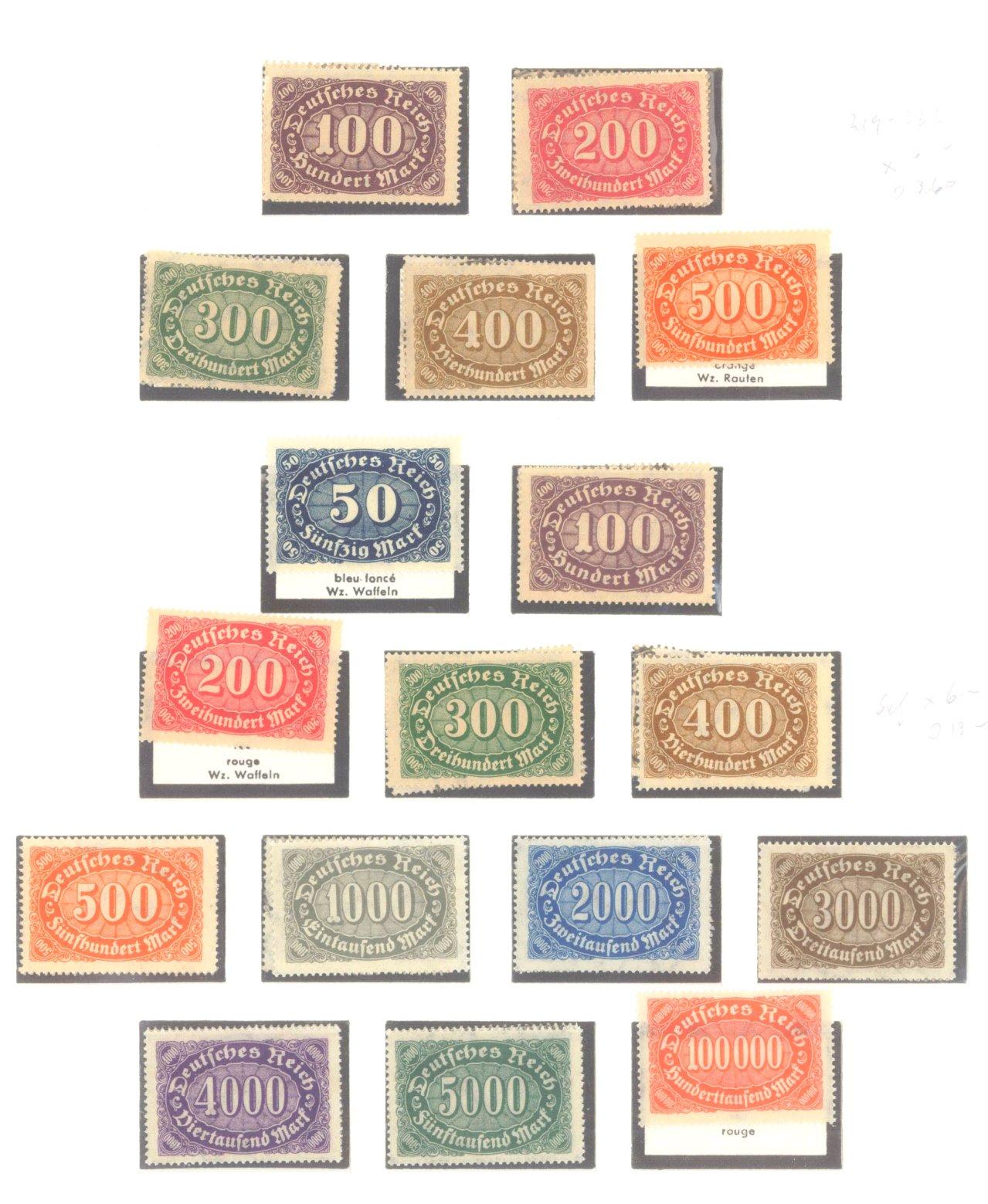 DEUTSCHES REICH – INFLATIONSZEIT 1916-1923-7