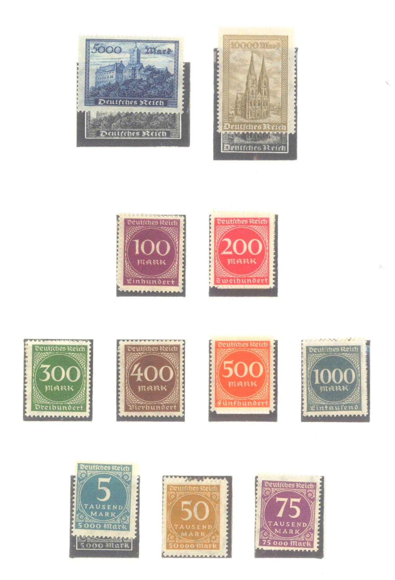 DEUTSCHES REICH – INFLATIONSZEIT 1916-1923-8
