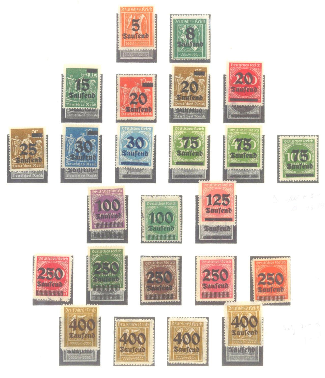 DEUTSCHES REICH – INFLATIONSZEIT 1916-1923-9