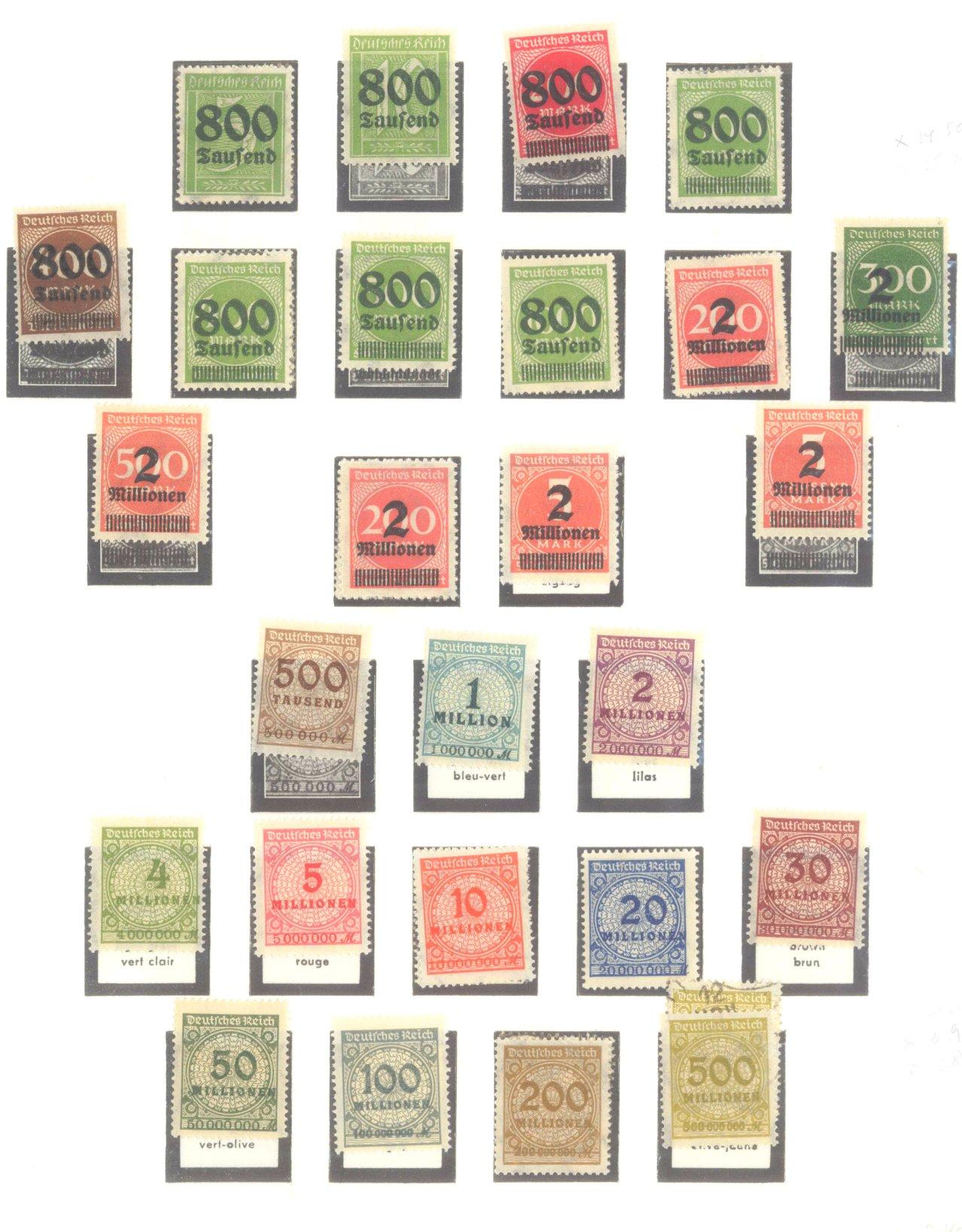 DEUTSCHES REICH – INFLATIONSZEIT 1916-1923-10