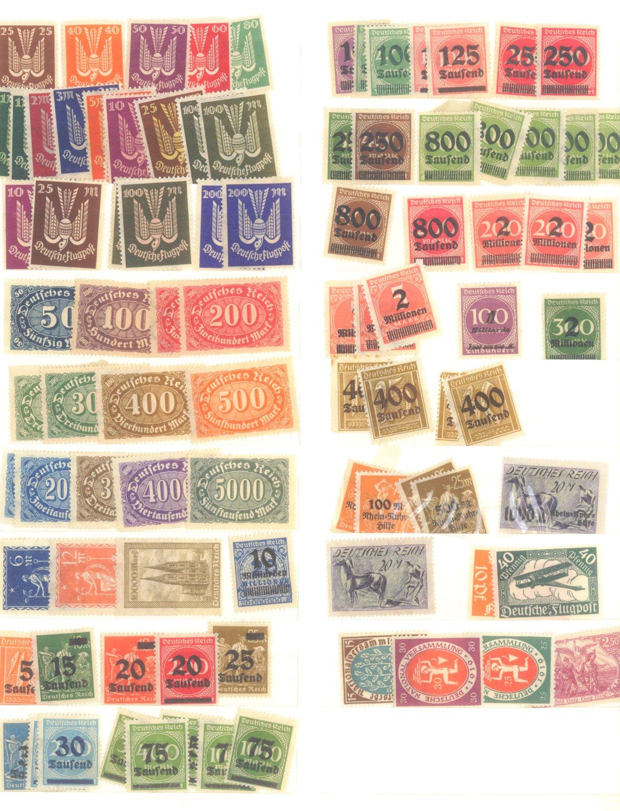DEUTSCHES REICH – INFLATIONSZEIT 1916-1923-12