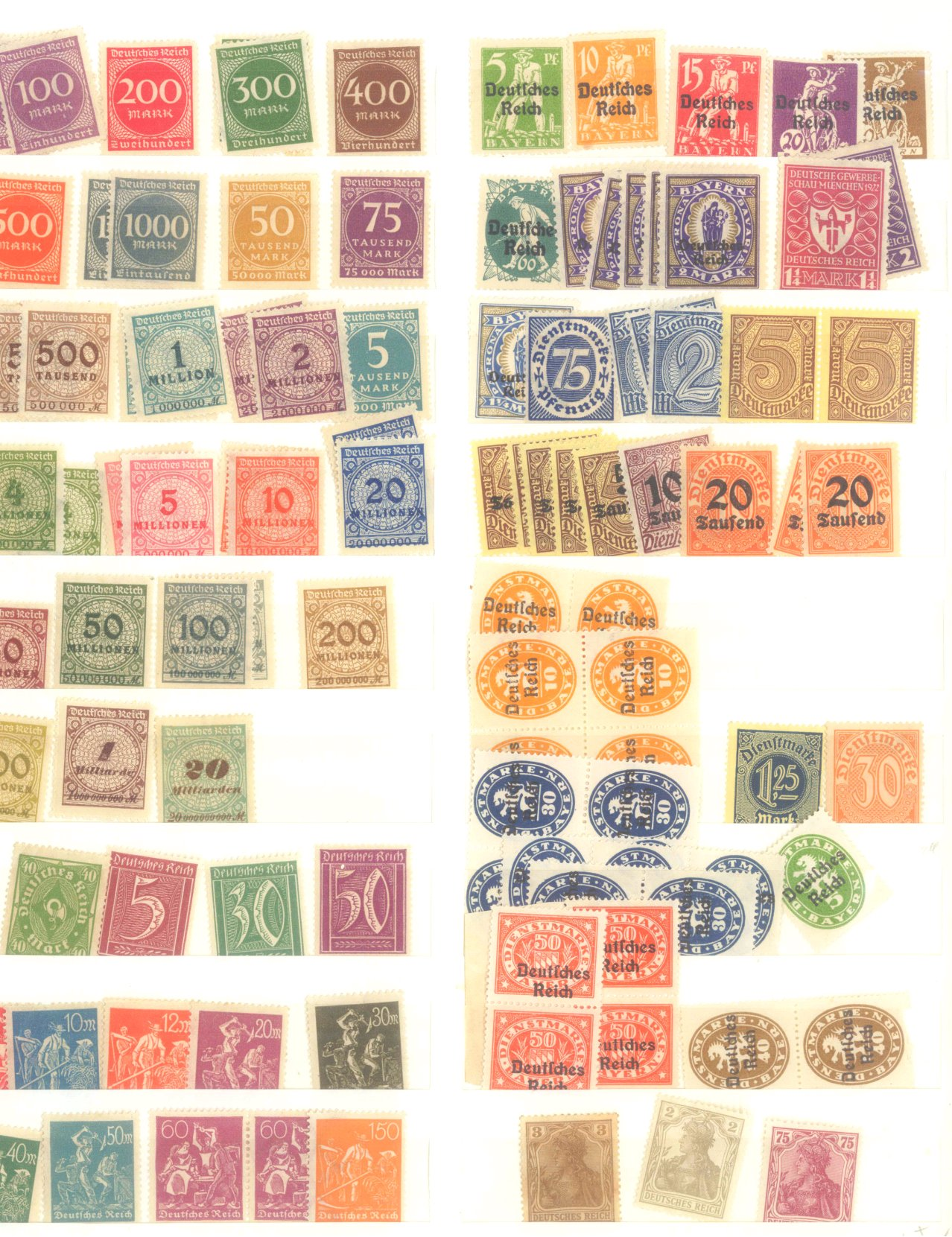 DEUTSCHES REICH – INFLATIONSZEIT 1916-1923-13