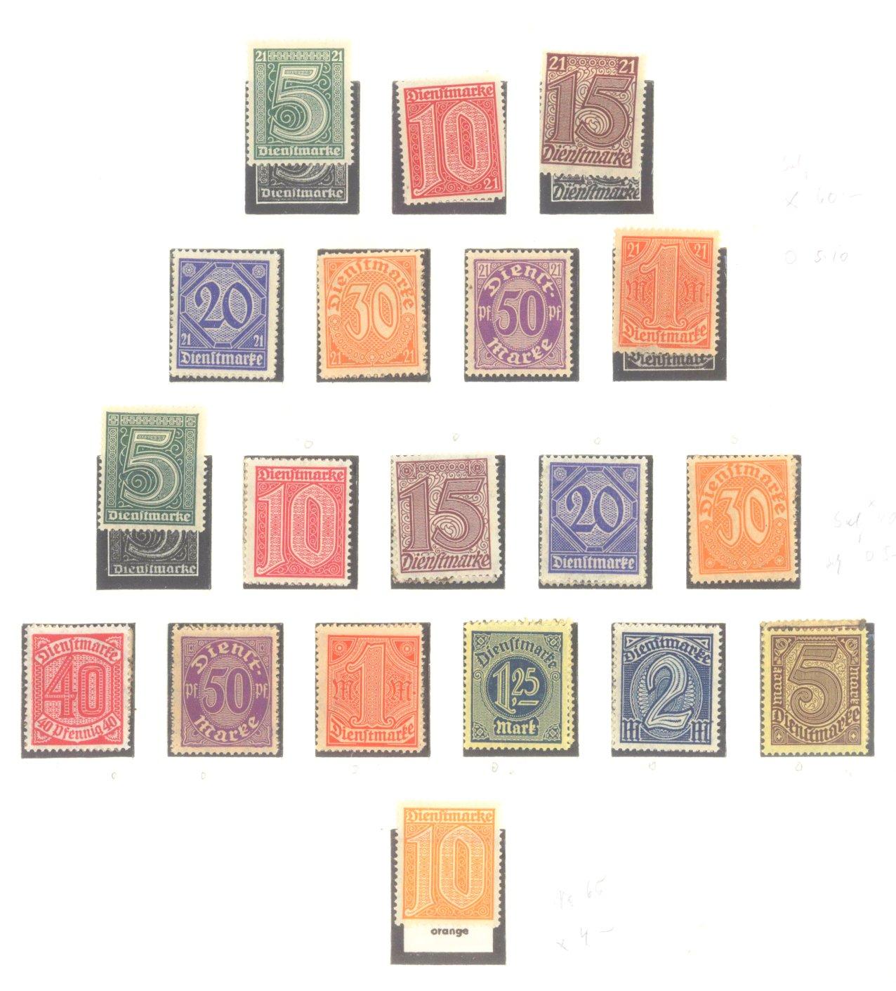 DEUTSCHES REICH – INFLATIONSZEIT 1916-1923-14