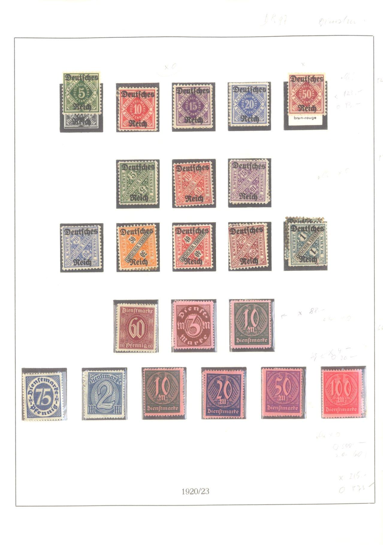 DEUTSCHES REICH – INFLATIONSZEIT 1916-1923-16