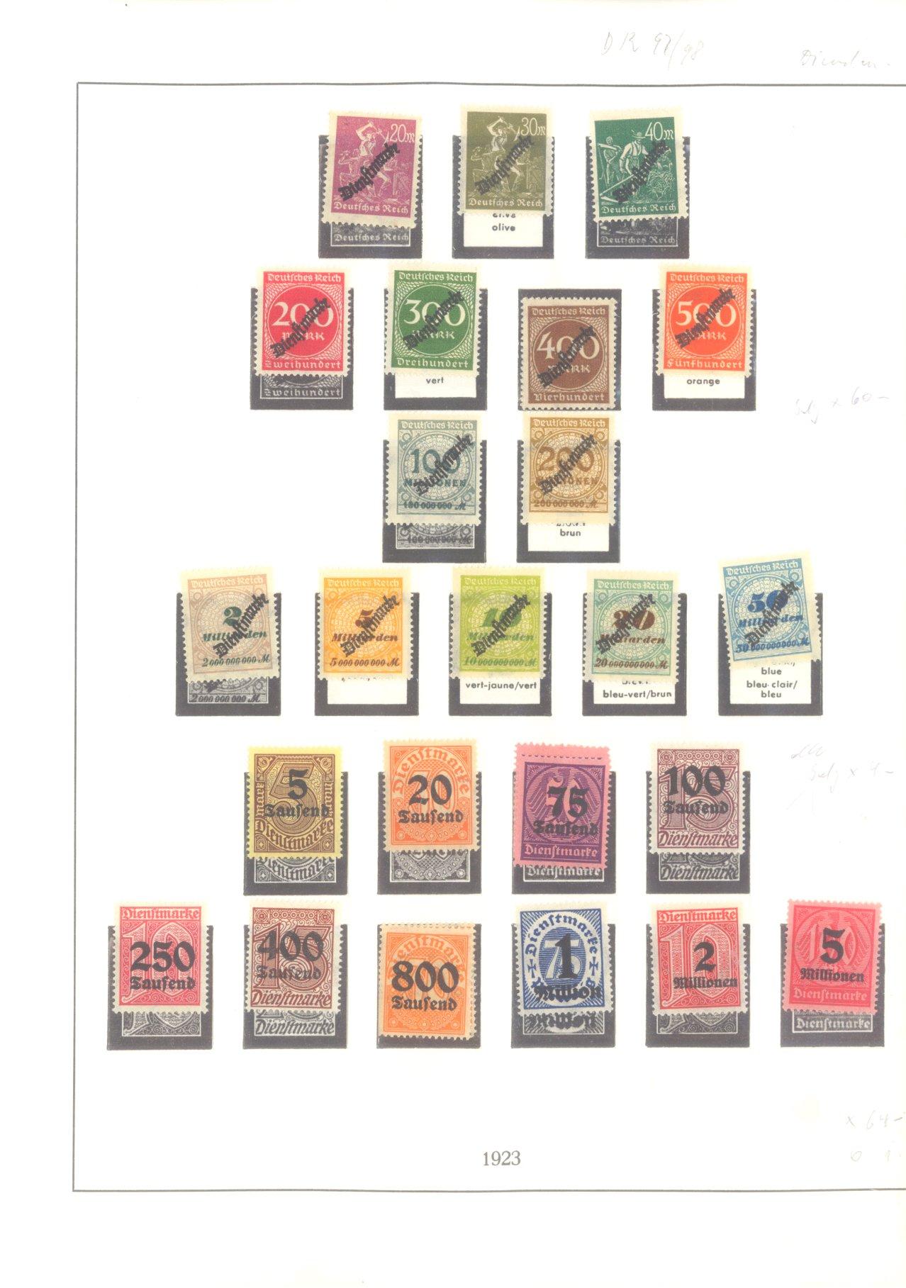 DEUTSCHES REICH – INFLATIONSZEIT 1916-1923-17
