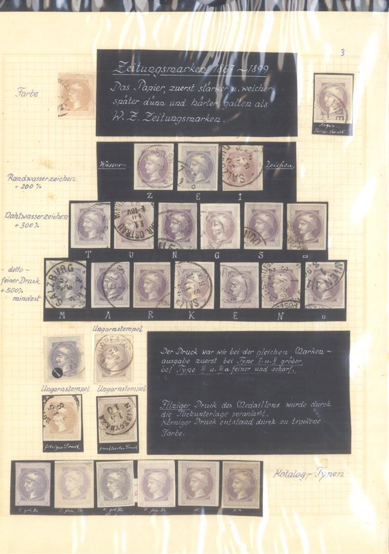 ÖSTERREICH – HERVORRAGENDE ZEITUNGS/STEMPELMARKEN-Sammlung-2