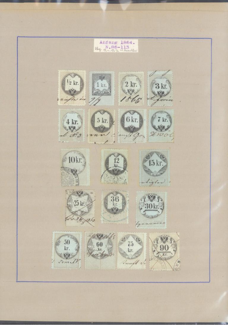ÖSTERREICH – HERVORRAGENDE ZEITUNGS/STEMPELMARKEN-Sammlung-19