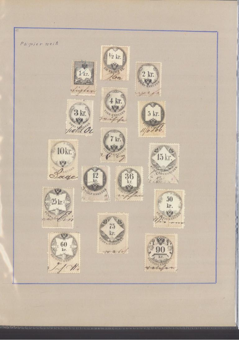 ÖSTERREICH – HERVORRAGENDE ZEITUNGS/STEMPELMARKEN-Sammlung-22