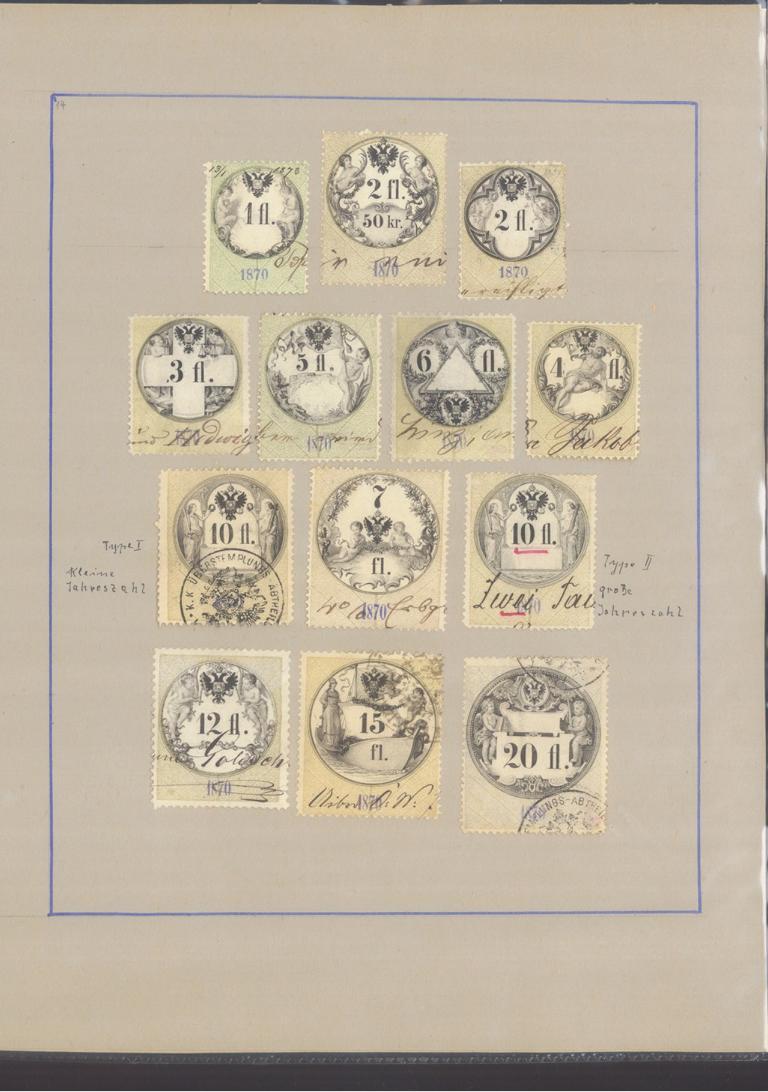 ÖSTERREICH – HERVORRAGENDE ZEITUNGS/STEMPELMARKEN-Sammlung-25