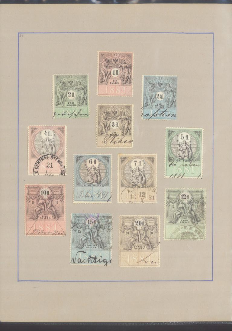 ÖSTERREICH – HERVORRAGENDE ZEITUNGS/STEMPELMARKEN-Sammlung-35