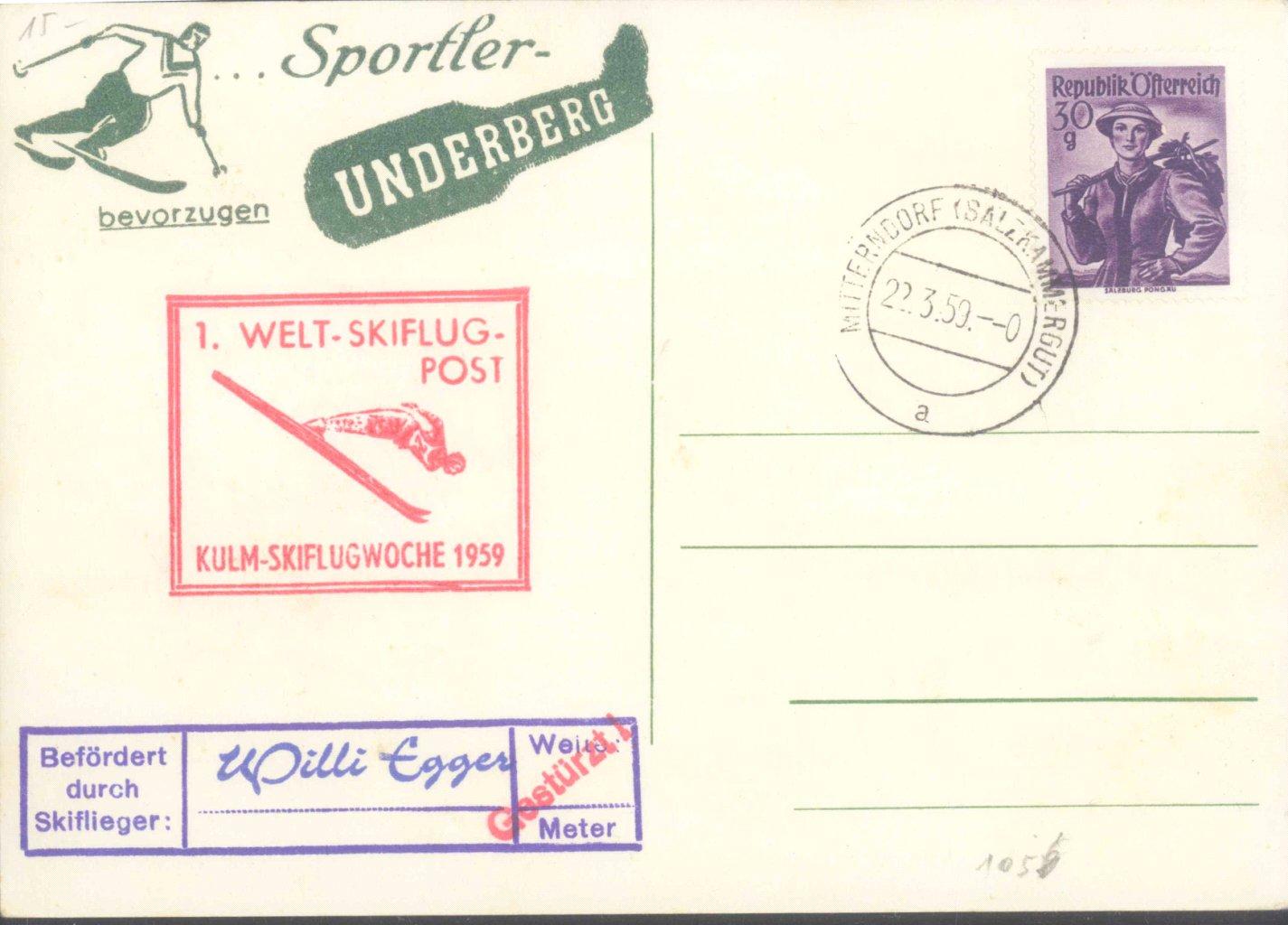 MOTIV SKISPRINGEN KULM 1959,UNDERBERG,ZEPPELIN,VERRÜCKTE….-1