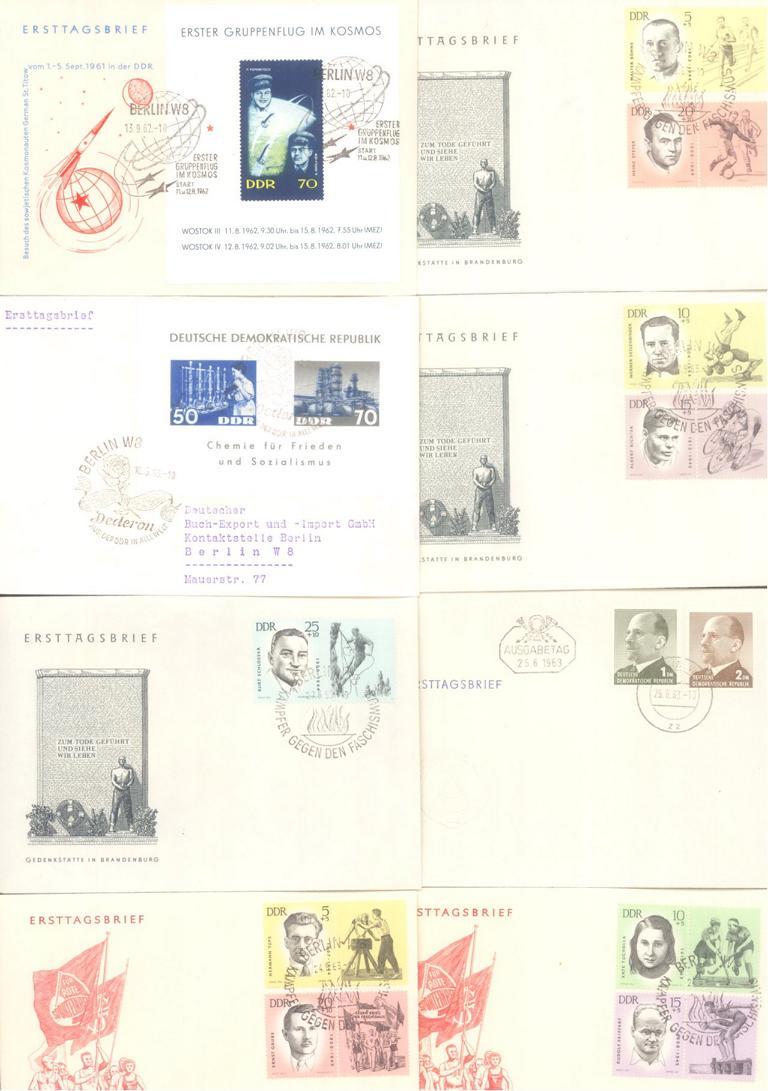 DDR 1960 – 1965 ERSTTAGSBRIEFE mit BLOCKS!! KW 695,- Euro
