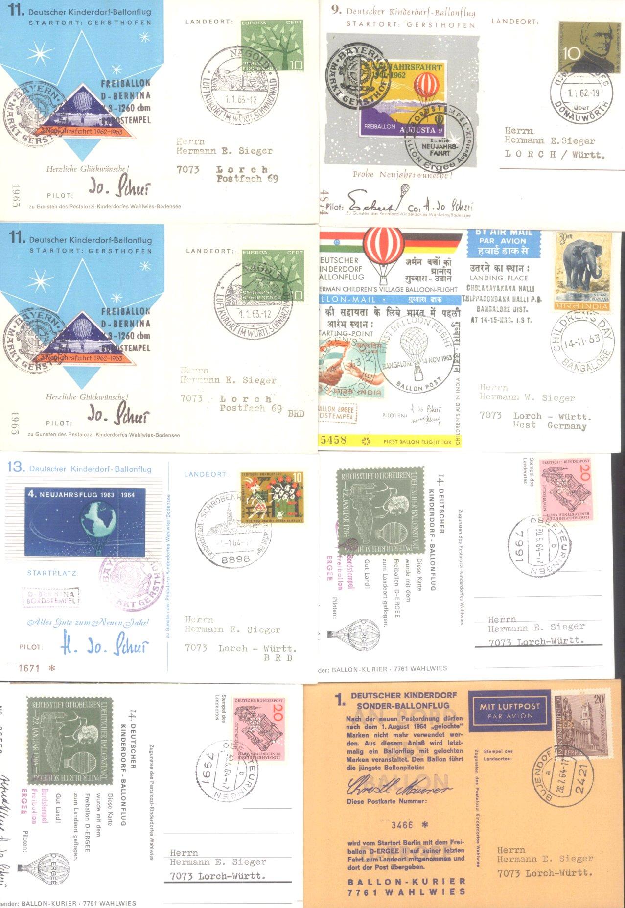 MOTIV BALLONPOST / KINDERDORF BALLONPOST 1952-1972-2
