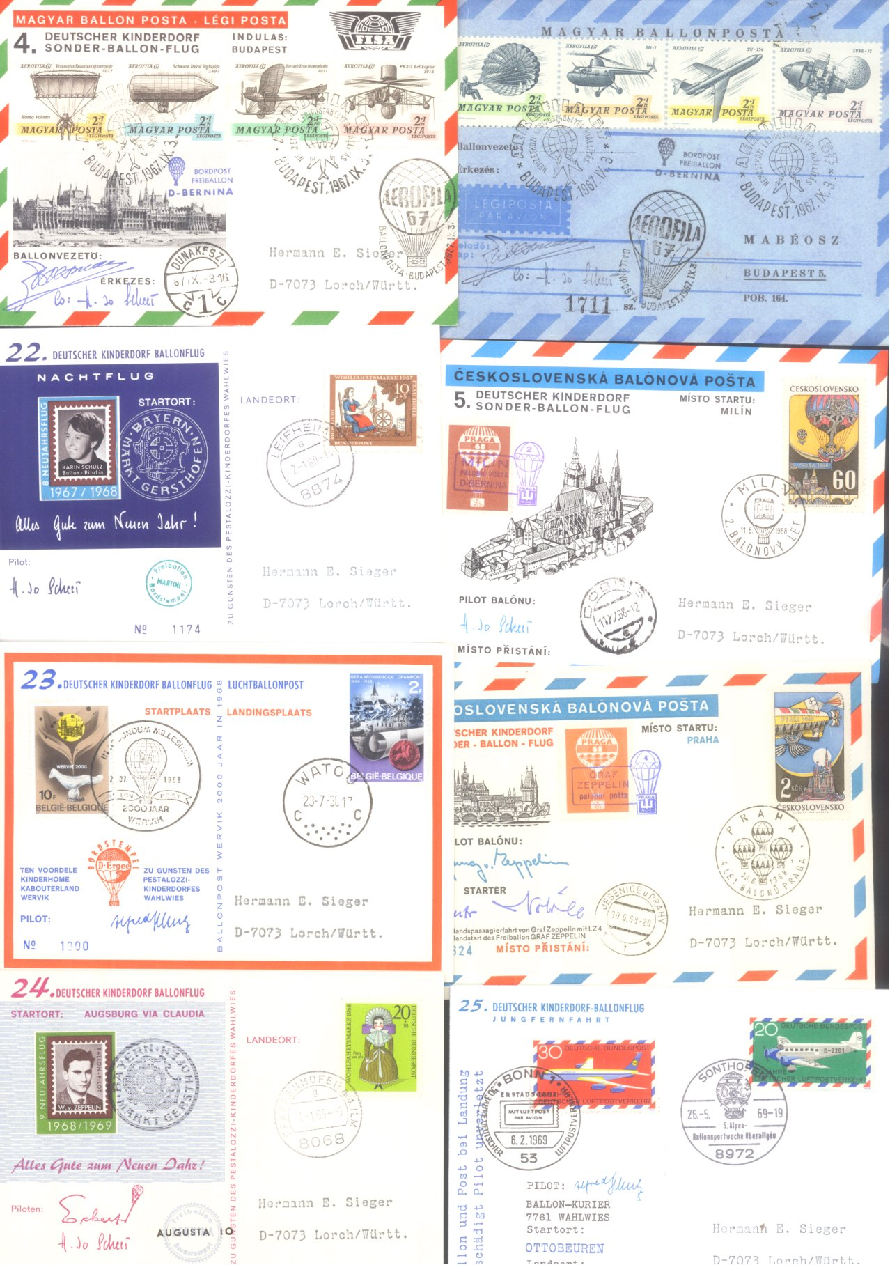 MOTIV BALLONPOST / KINDERDORF BALLONPOST 1952-1972-4