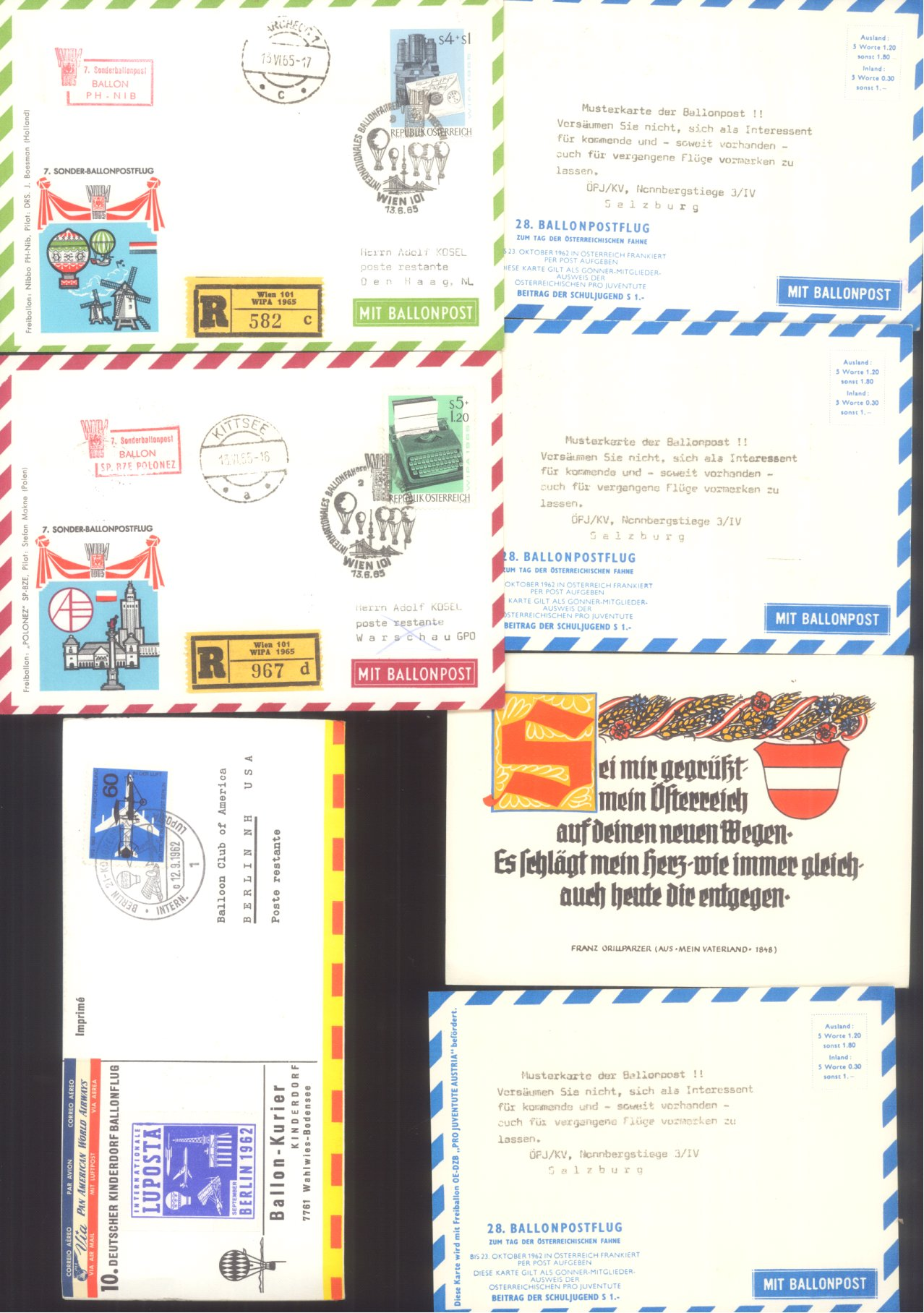 MOTIV BALLONPOST / KINDERDORF BALLONPOST 1952-1972-7