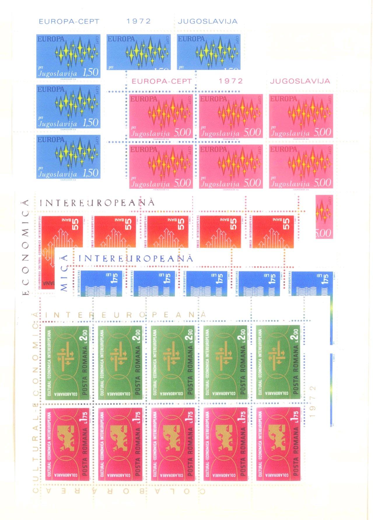 EURROPA CEPT mit SPANISCH – ANDORRA 1972-3
