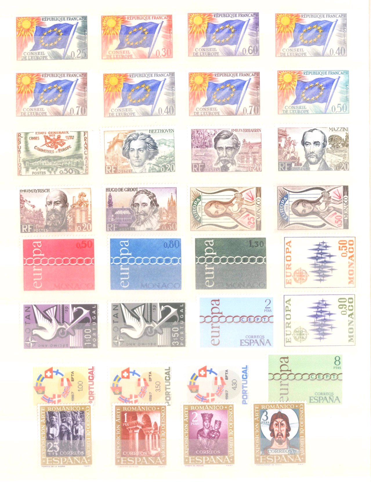 EURROPA CEPT mit SPANISCH – ANDORRA 1972-7
