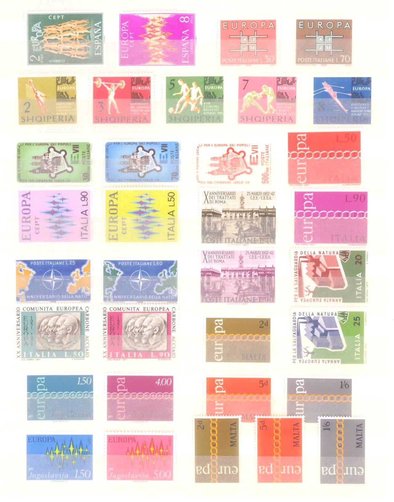 EURROPA CEPT mit SPANISCH – ANDORRA 1972-8