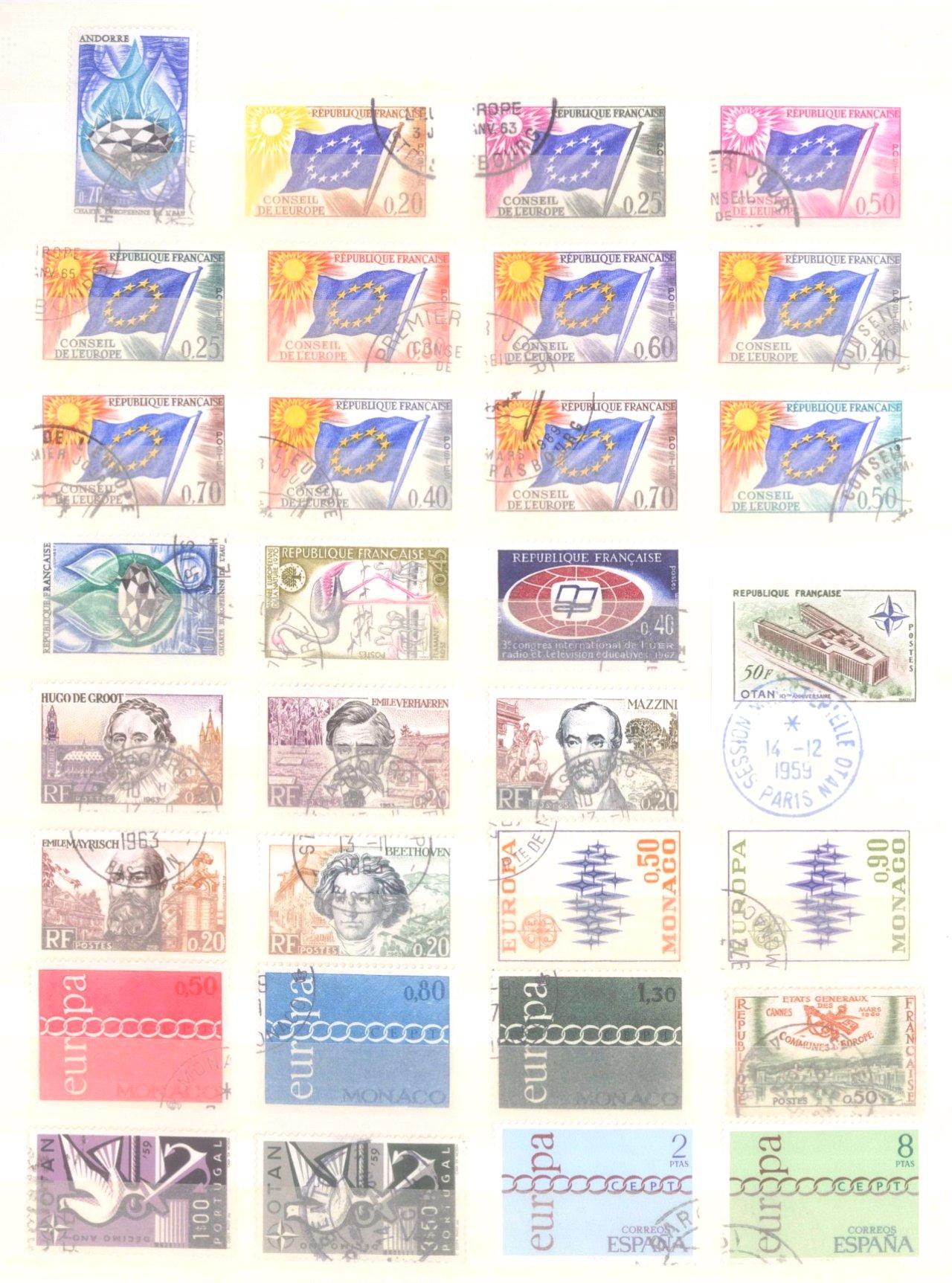 Europa CEPT mit SPANISCH – ANDORRA 1972-6